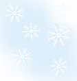 New Years frame from snowflakes on a blue vector image vector image