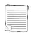 Notebook Paper drawing vector image vector image