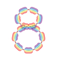 Number 8 made in rainbow colors vector image