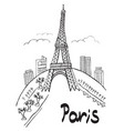 paris eiffel tower city vector image vector image