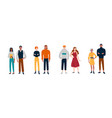 people stand in pairs friends partners vector image vector image