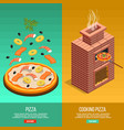 pizza baking banner set vector image