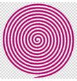 purple round abstract vortex hypnotic spiral vector image
