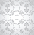 seamless floral design grey vector image