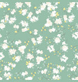 seamless pattern with styled spring cherry vector image