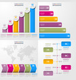 Set of business timeline infographics and design