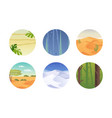 set of climatic zones vector image vector image