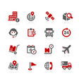 shipping and tracking icons vector image vector image