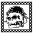skull wearing hat smoking cigar vector image vector image