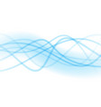 smooth light blue waves lines abstract vector image vector image