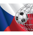 Soccer goal and czech flag vector | Price: 1 Credit (USD $1)