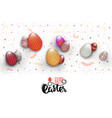 spring easter is a beautiful badge lettering and vector image