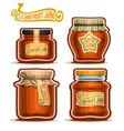 starfruit jam in jars vector image vector image