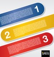 Three labels banners vector image