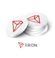 tron cryptocurrency tokens vector image vector image