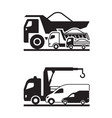 various construction trucks vector image vector image