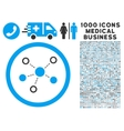 Virtual Links Rounded Icon With Medical Bonus vector image vector image