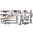 weapons guns military gun pistol vector image