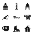 Winter frost icons set simple style vector image vector image