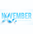 world prostate cancer day symbol vector image vector image