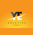 ye y e letter modern logo design with yellow vector image vector image