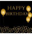 balloons happy birthday on black vector image