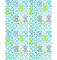 Seamless geometric pattern watercolor color vector image