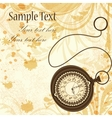 Vintage background with pocket watches vector image