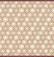 abstract seamless geometric pattern of hexagons vector image vector image