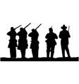 american civil war soldiers silhouette vector image