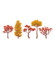 autumn trees collection vector image