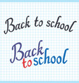 back to school poster with lettering sheet in the vector image