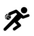 basketball dribble icon vector image