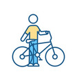 bicycle riding rgb color icon vector image