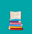 books background pile of different color books vector image vector image