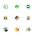 Business plan icons set pop-art style vector image