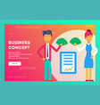 businessman and businesswoman signed a contract vector image