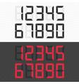 calculator digital numbers set vector image