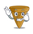 call me sweet wafer cone isolated on maskot vector image vector image