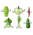 Cartoon fresh isolated farm vegetables vector image vector image