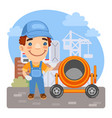 cartoon loader construction worker vector image vector image