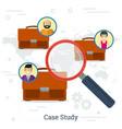 case study concept vector image