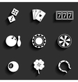 Casino and Gambling Flat Icons vector image