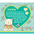 Cat keeps fruit background text vector image vector image