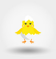 Chick in eggshell icon flat