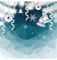 Christmas background with cut paper decorations vector image vector image