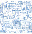 city with hand drawn buildings doodle urban vector image vector image