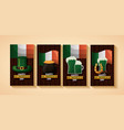 clovers and coins border vector image