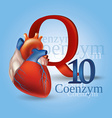 Coenzyme Q10 vector image