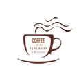 coffe cup with type design vector image vector image
